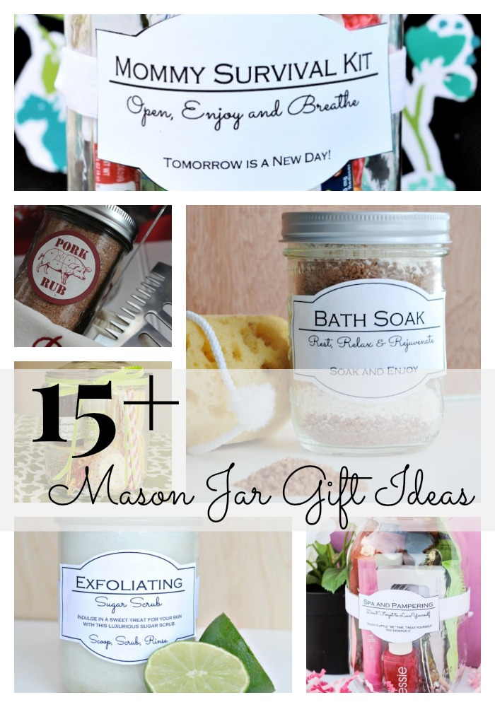 15 mason jar gift ideas classy clutter edited picmonkey collageg negle Image collections