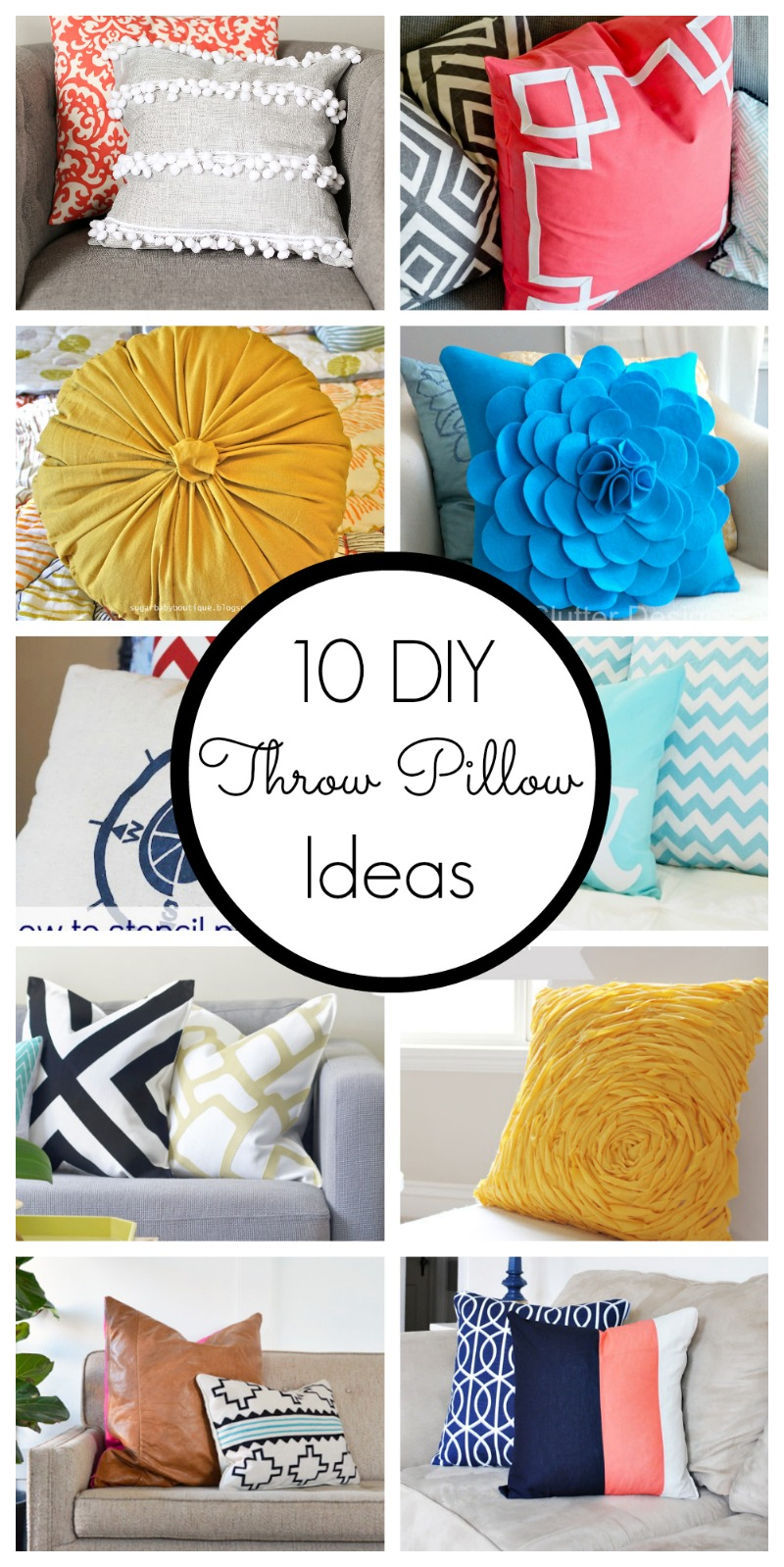 Throw Pillow Decorating Ideas : 10 DIY Throw Pillow Ideas