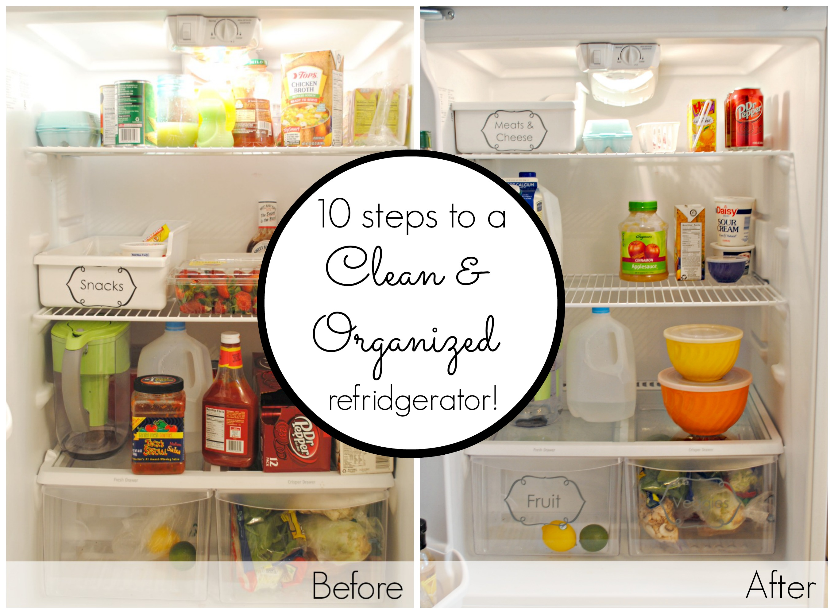 10 steps to a clean and organized fridge classy clutter. Black Bedroom Furniture Sets. Home Design Ideas