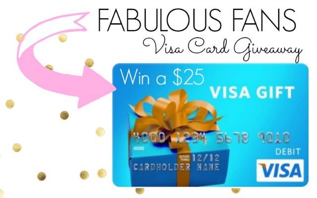 $25 Visa Giveaway