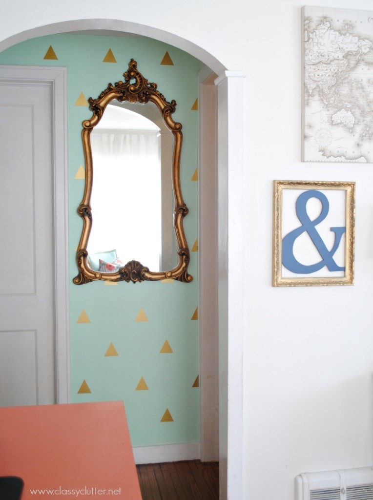 Mint and Gold Hallway