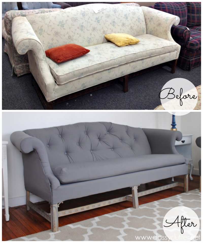 Coral and mint living room reveal classy clutter Reupholster loveseat