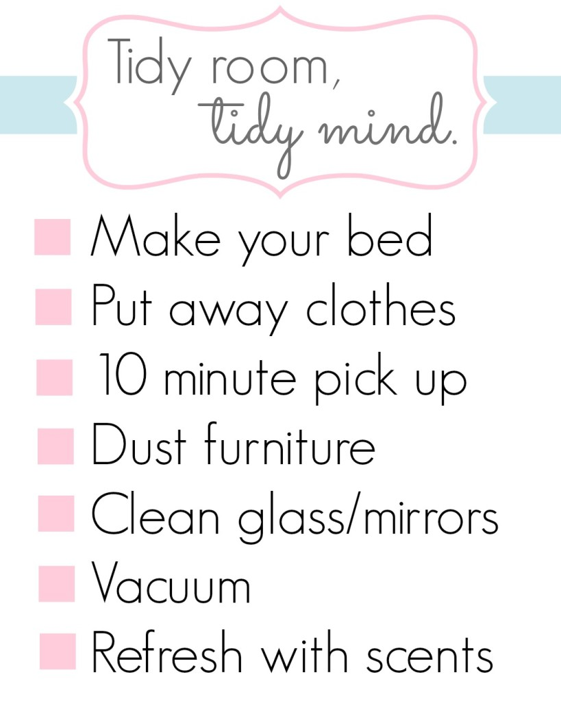 Tidy Room, Tidy Mind Printable