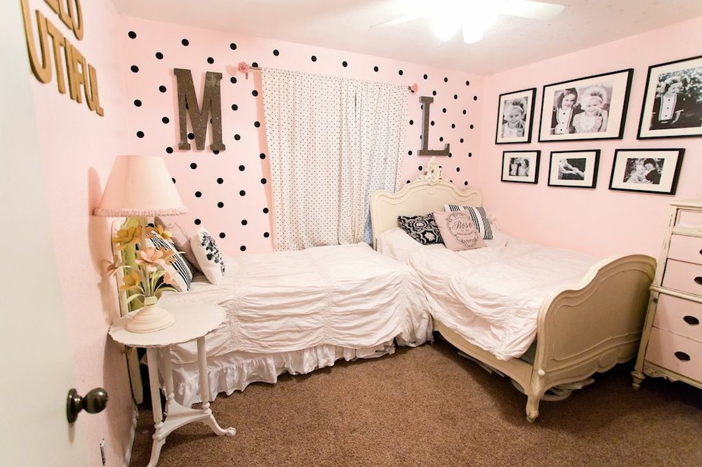 Shared girls room classy clutter for Bedroom ideas for siblings sharing
