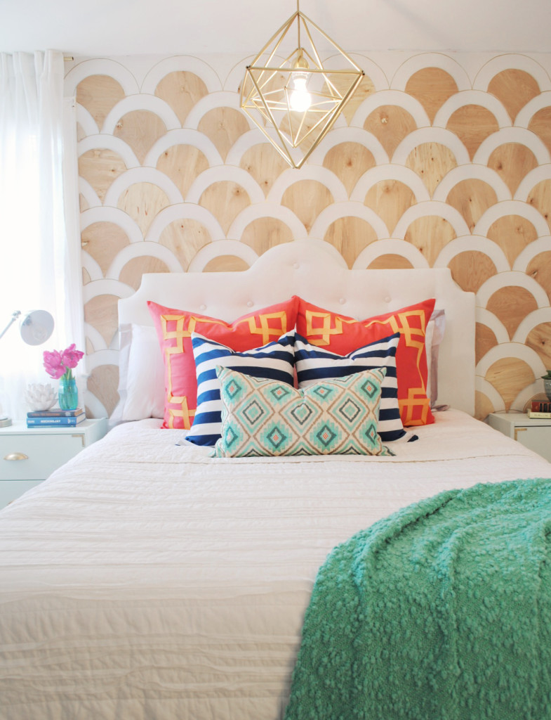 Diy modern tufted headboard for Modern headboard diy
