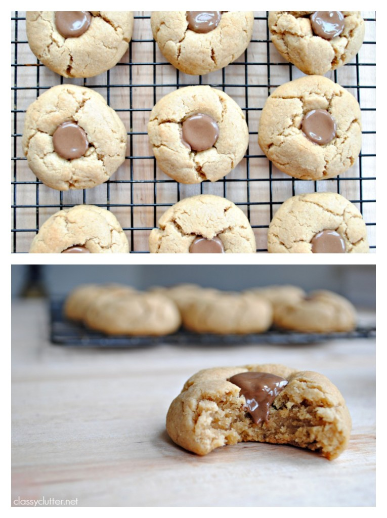 Peanut Butter Cup Thumbprint Cookies 2