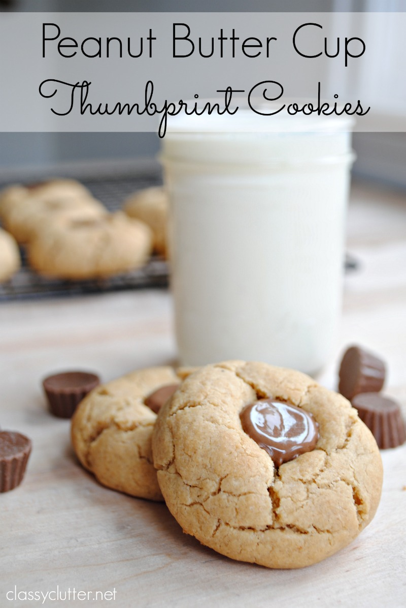 Peanut Butter Cup Thumbprint Cookies