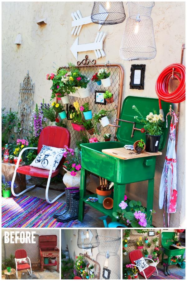 Trash to Treasures Garden Space