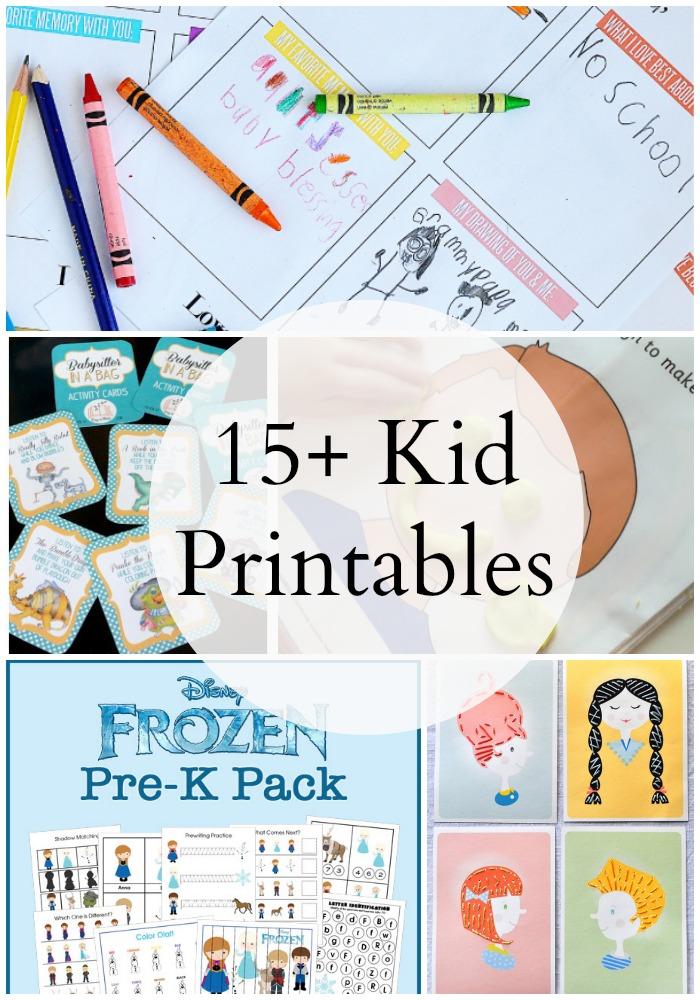 15 Kid Printables