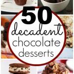 50 Decadent Chocolate Desserts | www.classyclutter.net