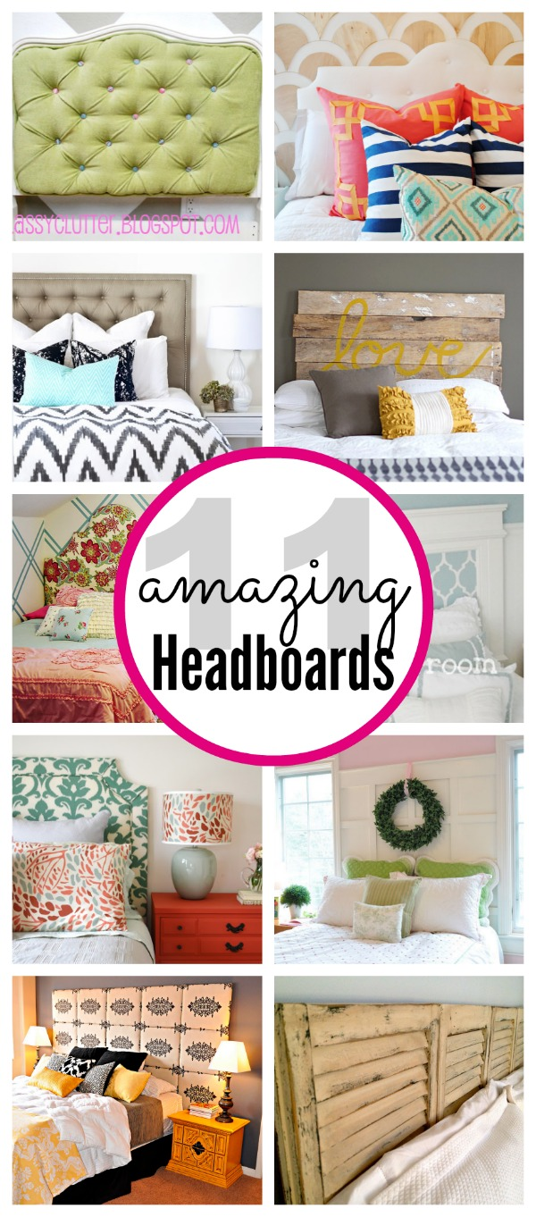 11 Amazing DIY Headboard Ideas - www.classyclutter.net