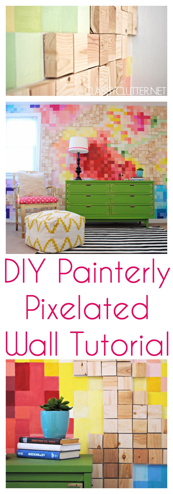 DIY Painterly Pixelated Wall Tutorial