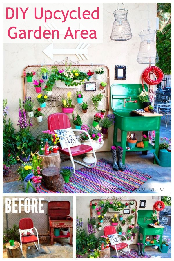 DIY Upcycled Garden Area