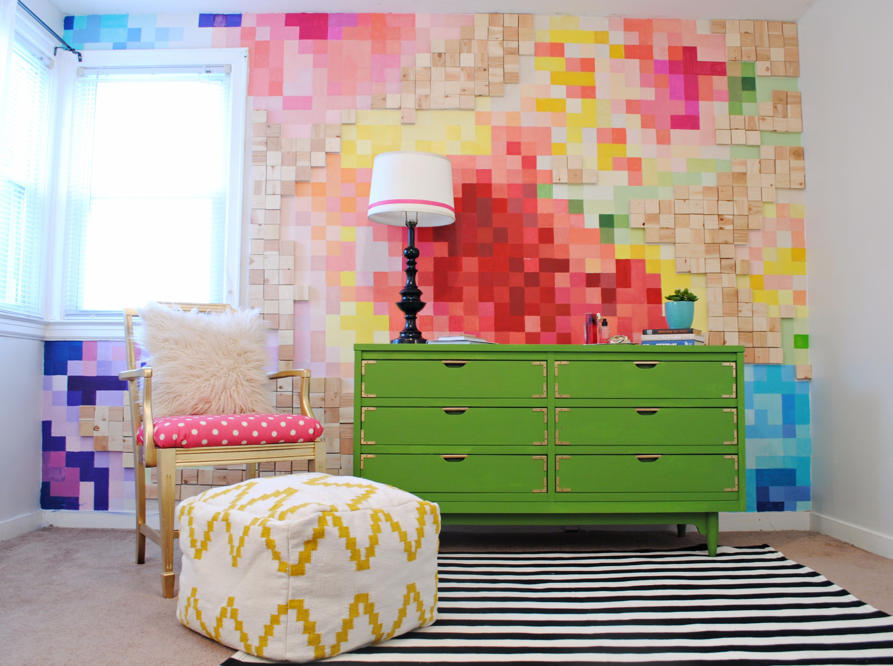 pixelated wall tutorial - Pixelated Interior Design