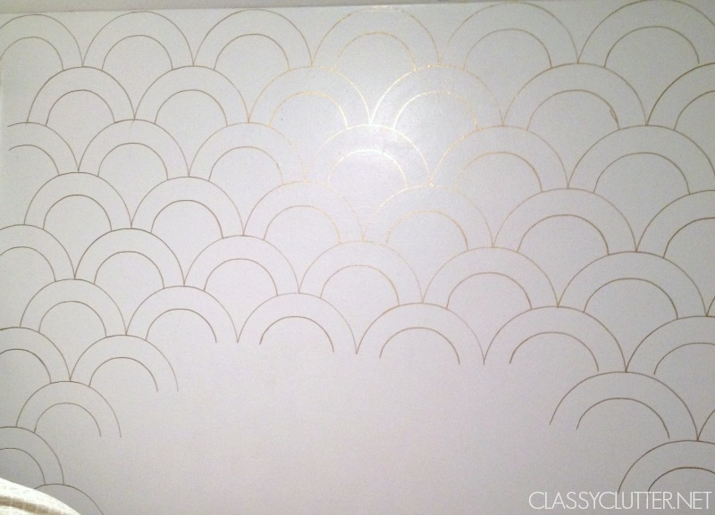 Gold Sharpie Wall Scallops