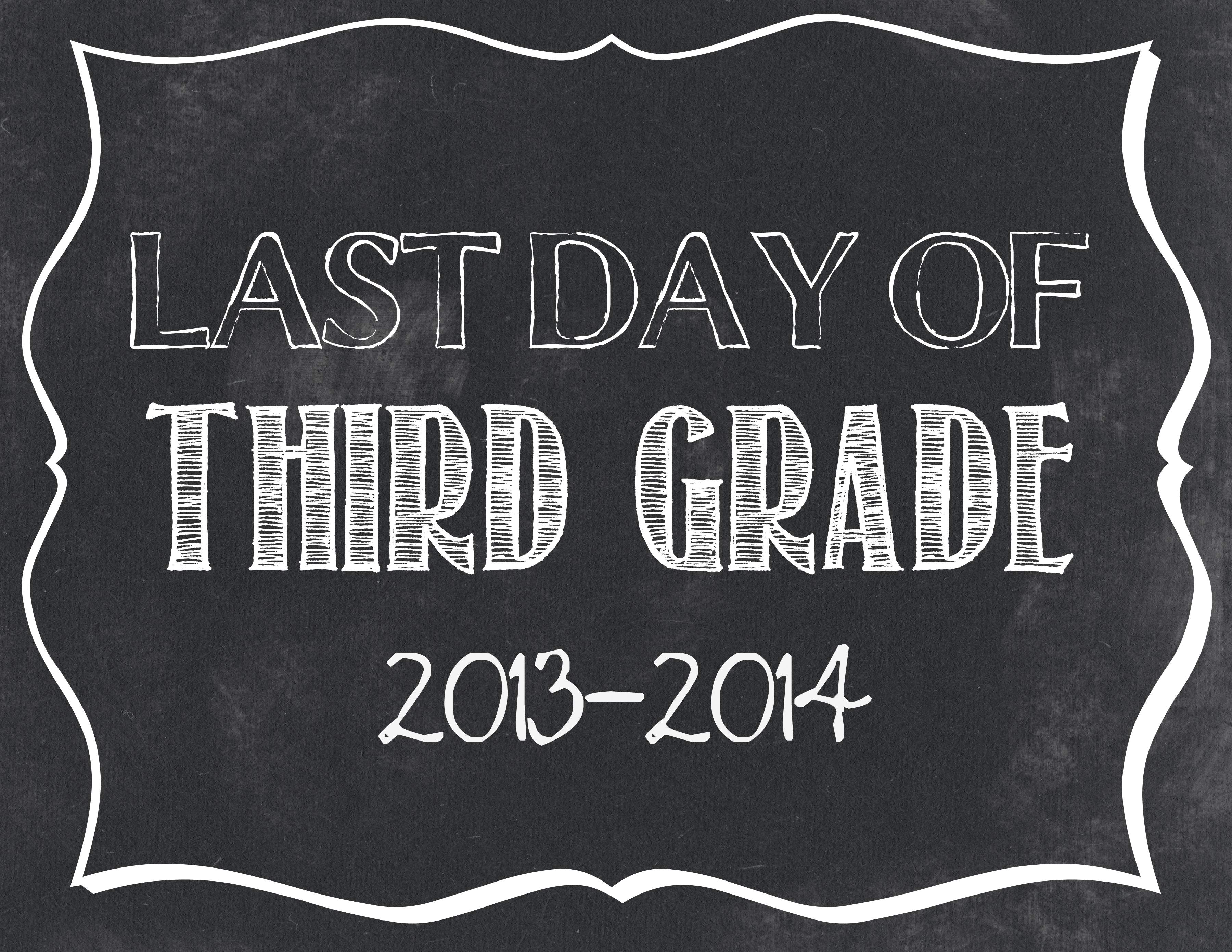 photo regarding Last Day of 2nd Grade Printable titled Final Working day of Higher education Printables