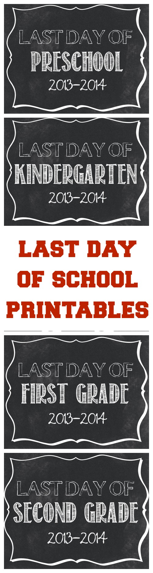 picture regarding Last Day of Preschool Sign Printable titled Closing Working day of Faculty Printables