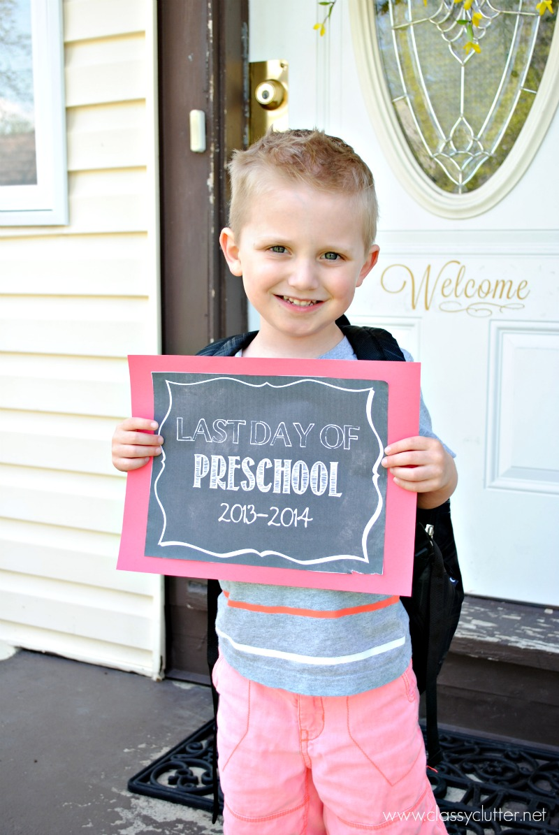Last Day of School Printables |Preschool - 12th Grade | www.classyclutter.net