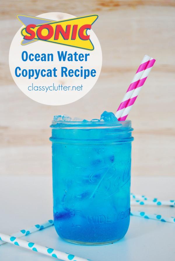 Sonic Ocean Water Copycat Recipe