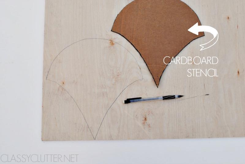 Trace scallop using stencil