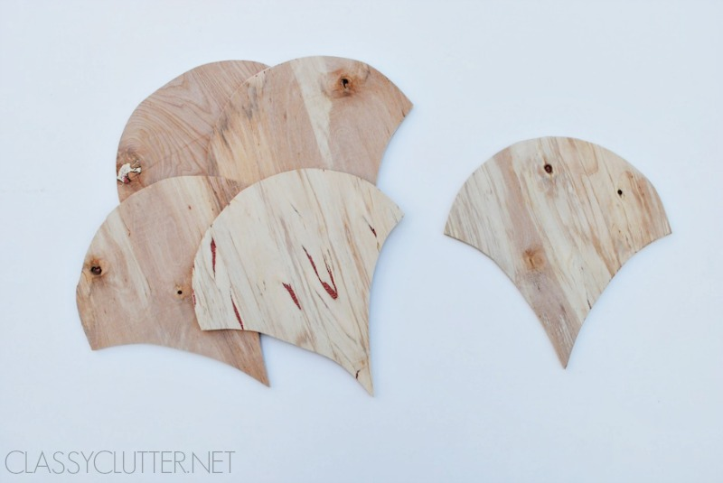Wood Scallops Cut out