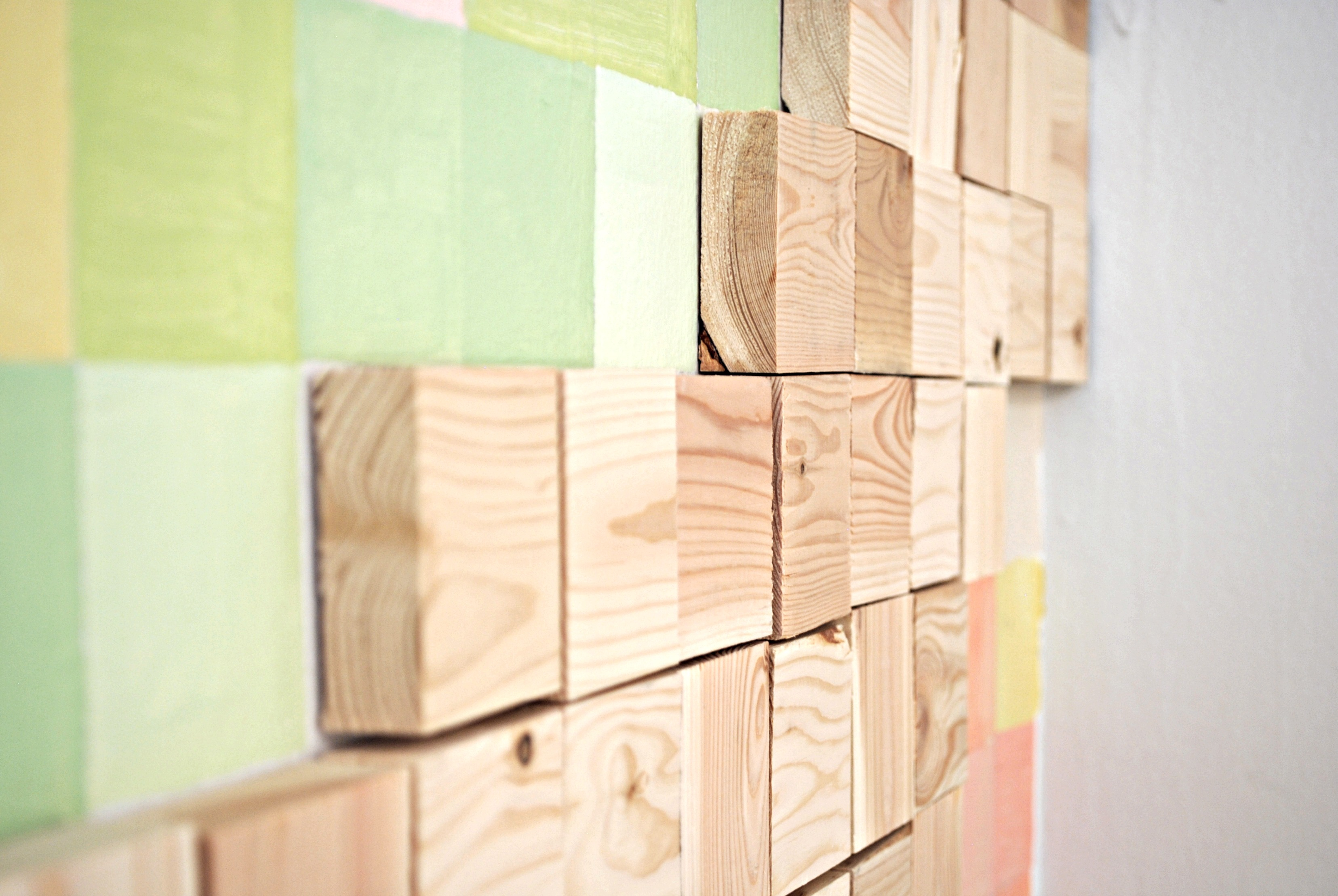 Wooden Blocks Close up