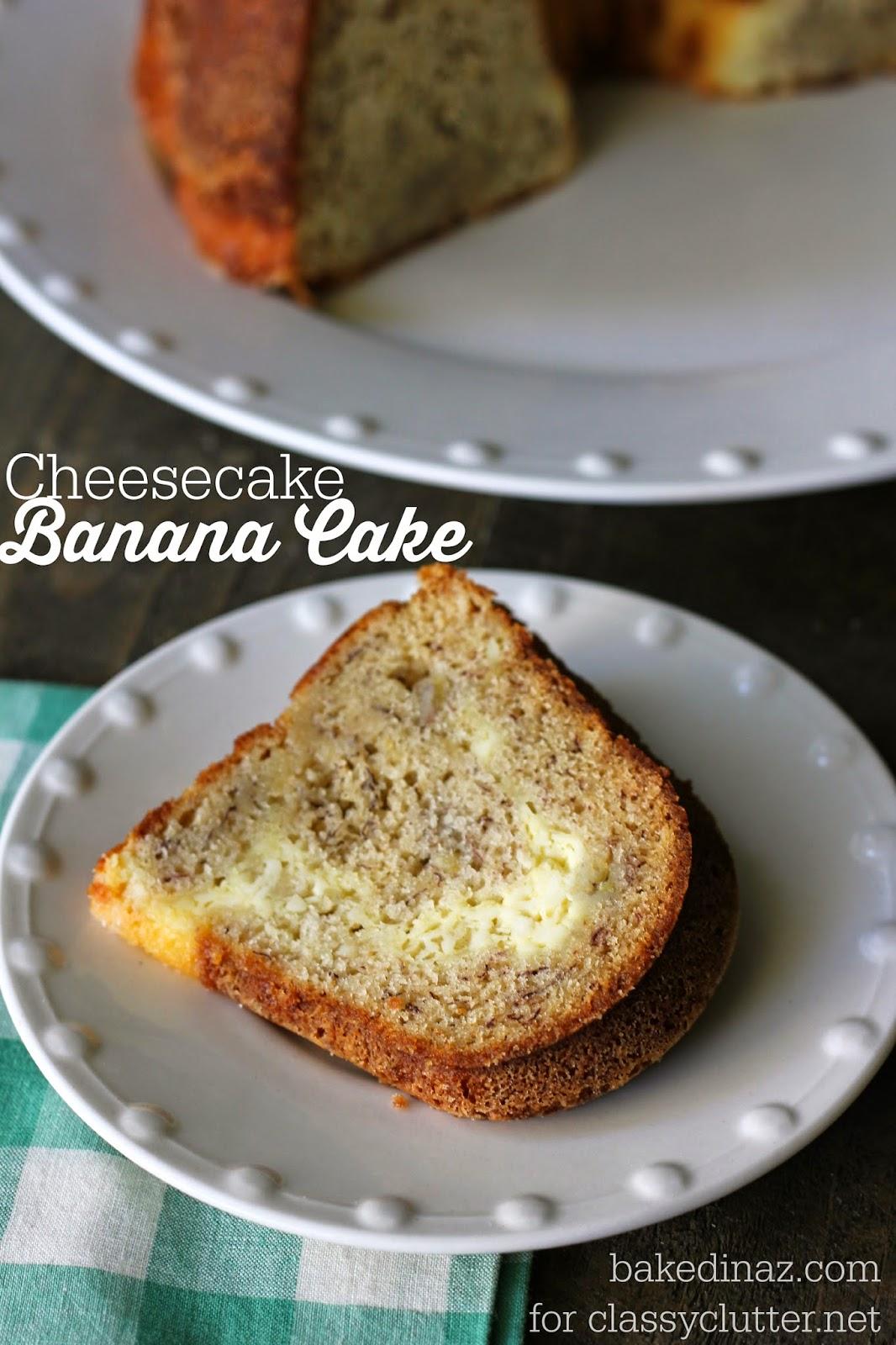 Cheesecake Banana Cake | www.classyclutter.net