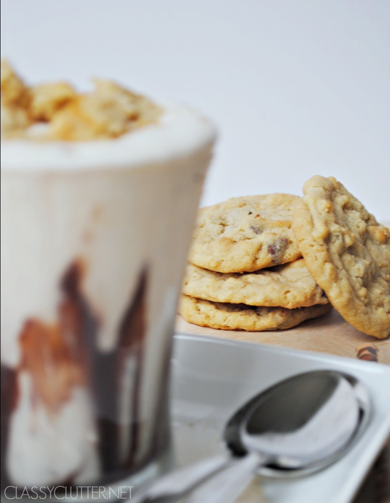 Chocolate Chip Cookie Shake - www.classyclutter.net