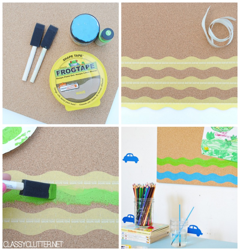 DIY Cork Board with Shape Tape