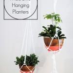 DIY Macramé Hanging Planters | www.classyclutter.net