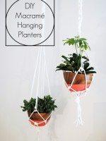 DIY Macrame Planters