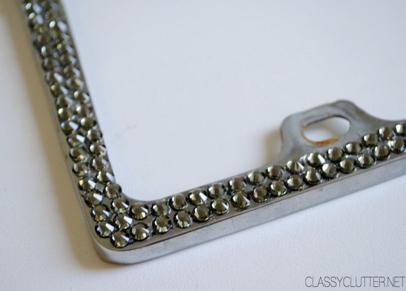 diy rhinestone license plate frame great gift idea wwwclassyclutternet