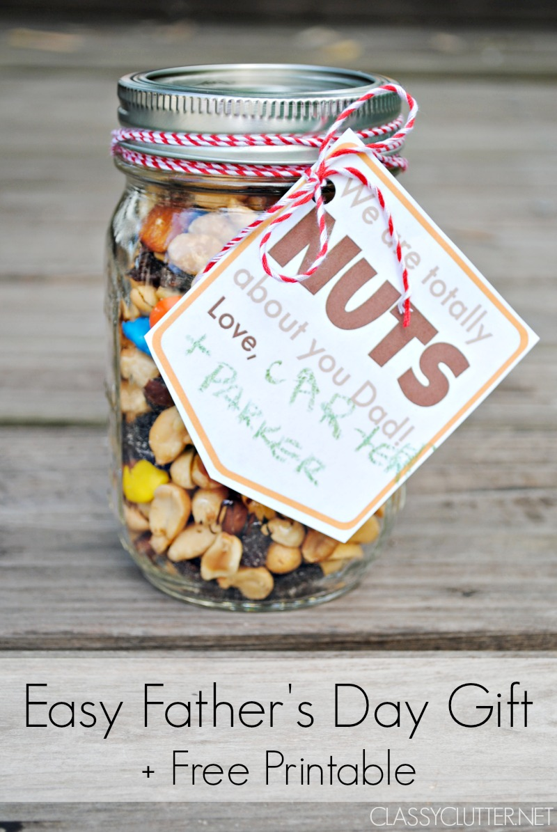 Fathers Day Gift Idea And A Free Printable Gift Tag