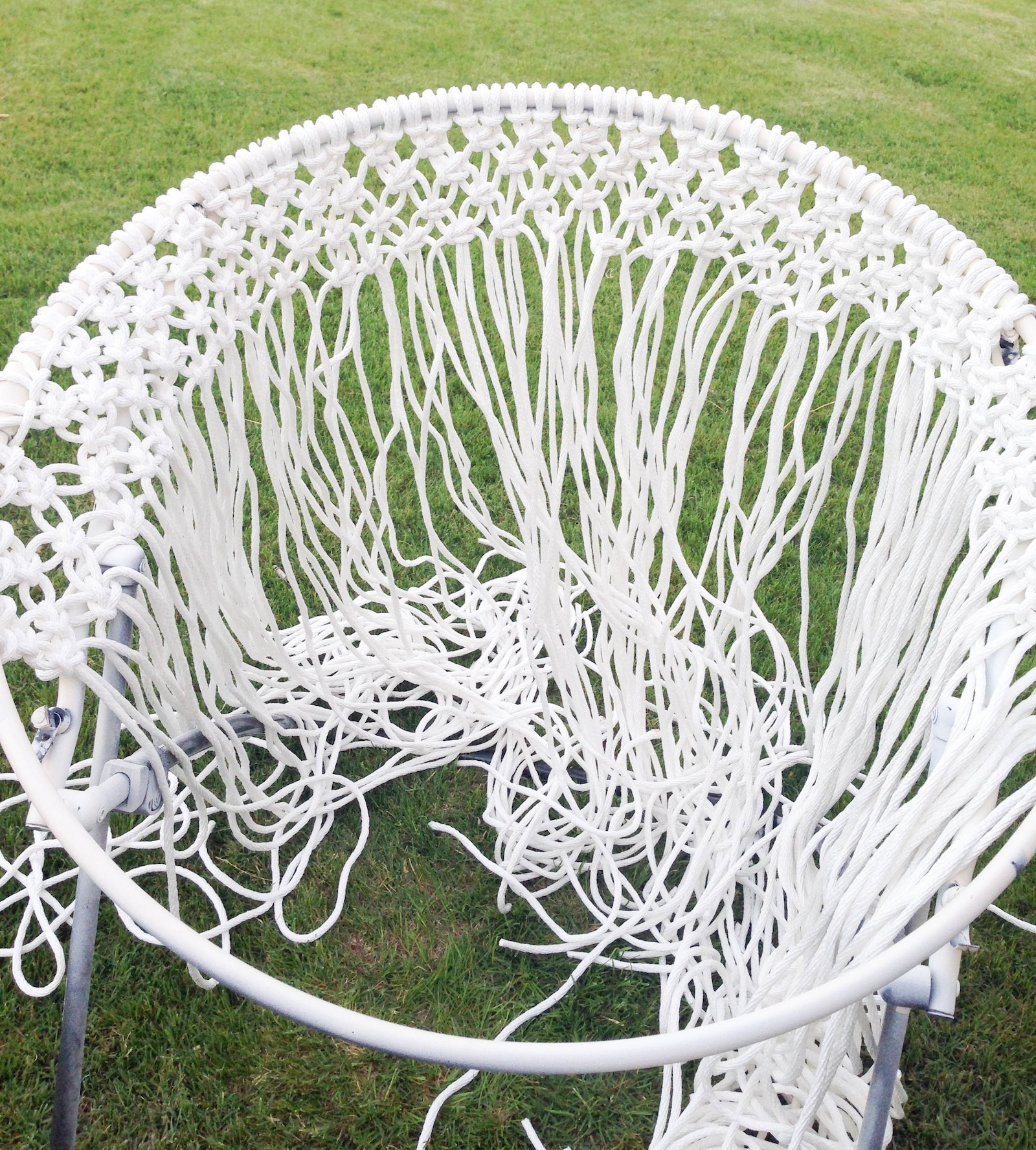 Diy hanging macram chair for Macrame hammock chair pattern
