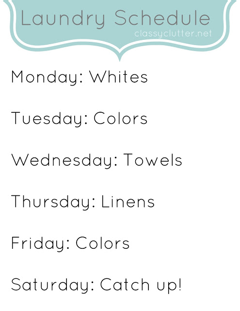Laundry Schedule_ClassyClutter
