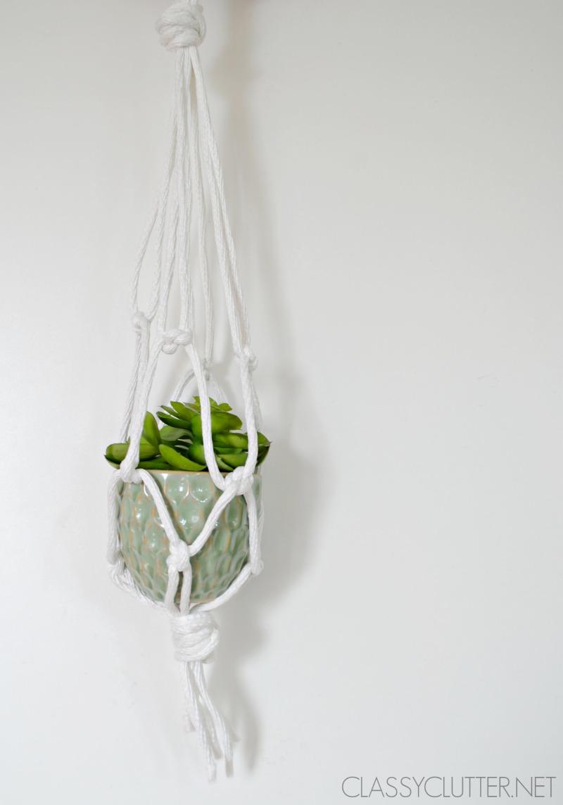 Diy Macramé Hanging Planters Www Clyclutter