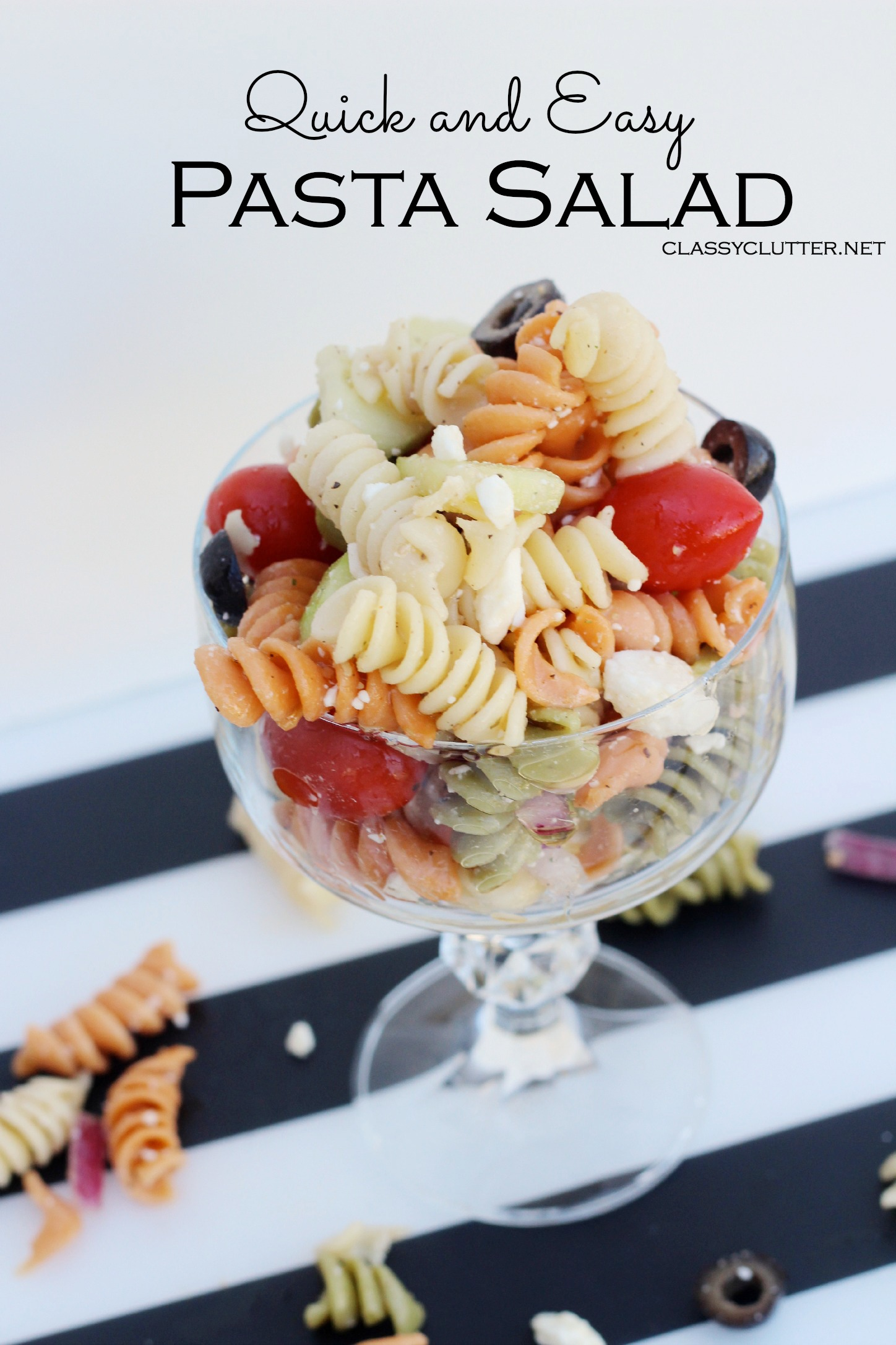 Quick and Easy Pasta Salad - www.classyclutter.net