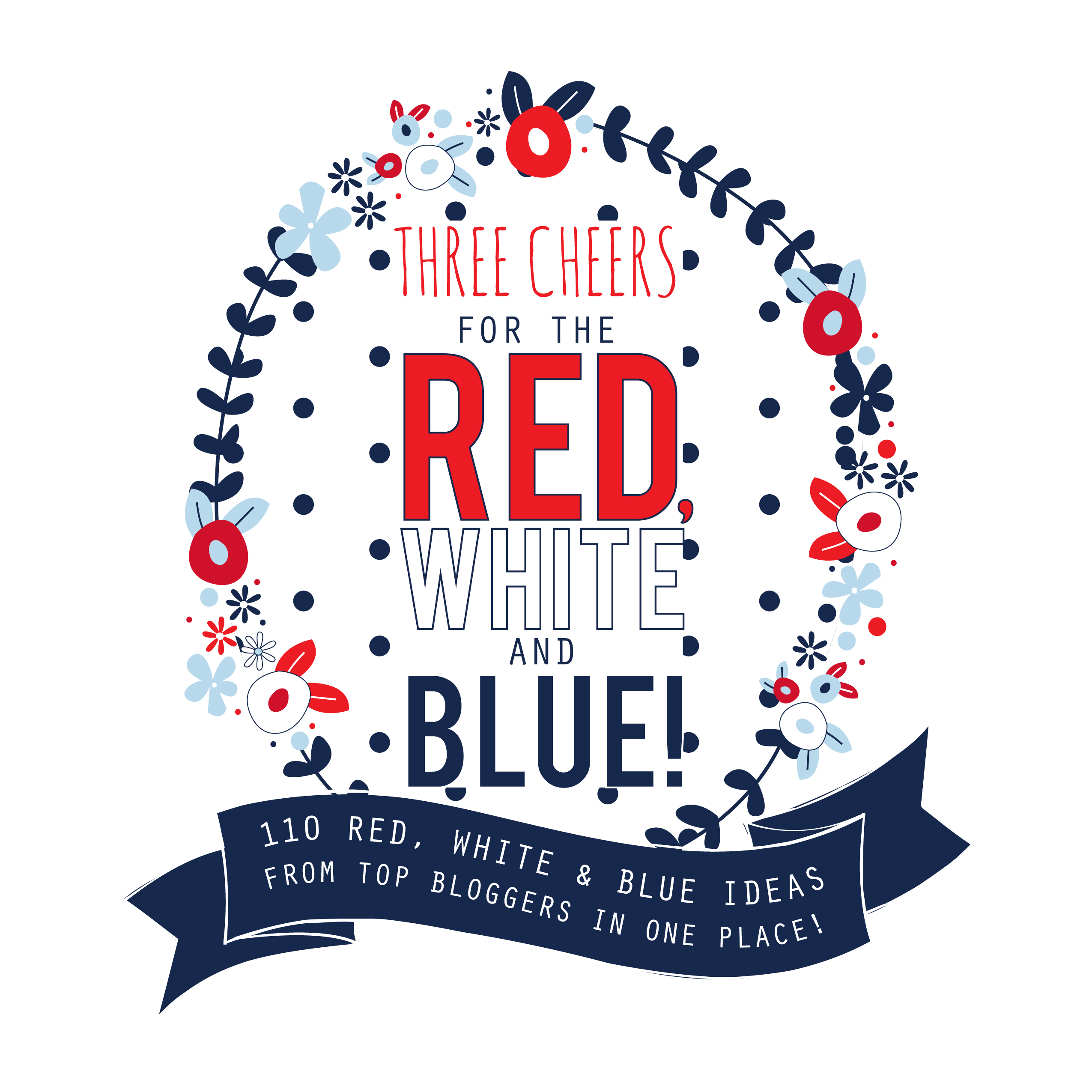 110 amazing Red, White and Blue projects, crafts, recipes, printables and more! | www.classyclutter.net