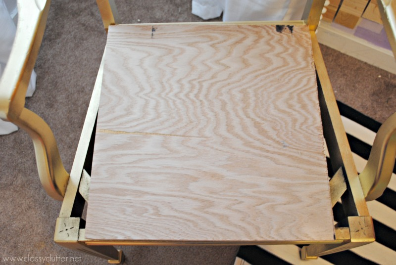 Add wood to chair frame