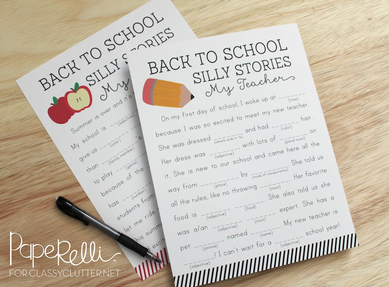 Back to School Printables - Silly Stories