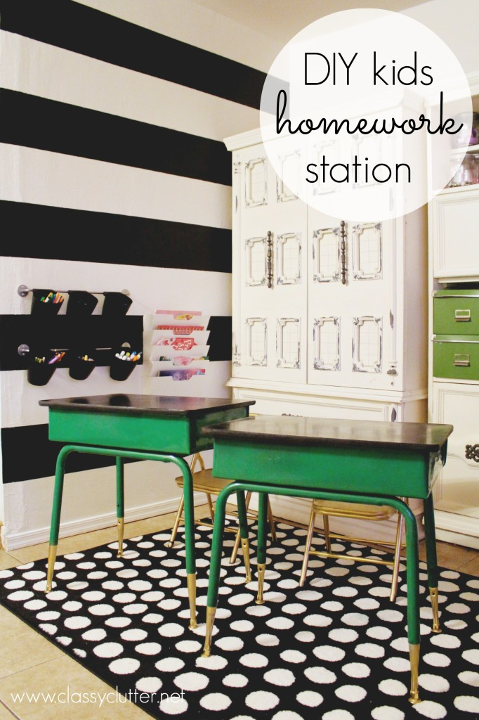 DIY-Homework-Station | Back to School: Coolest Learning Spaces