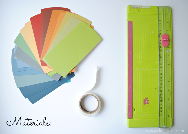 DIY Paint Swatch Art Materials