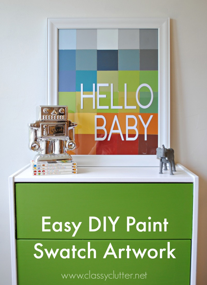DIY Paint Swatch Art - www.classyclutter.net