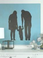 DIY Family Silhouette Artwork - www.classyclutter.net