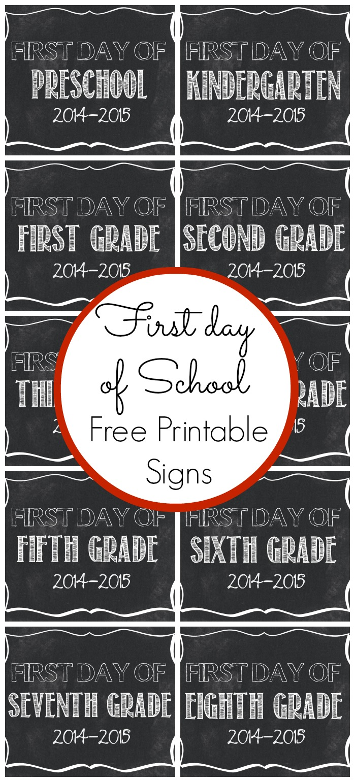 It's just a picture of Selective First Day of School Sign Free Printable