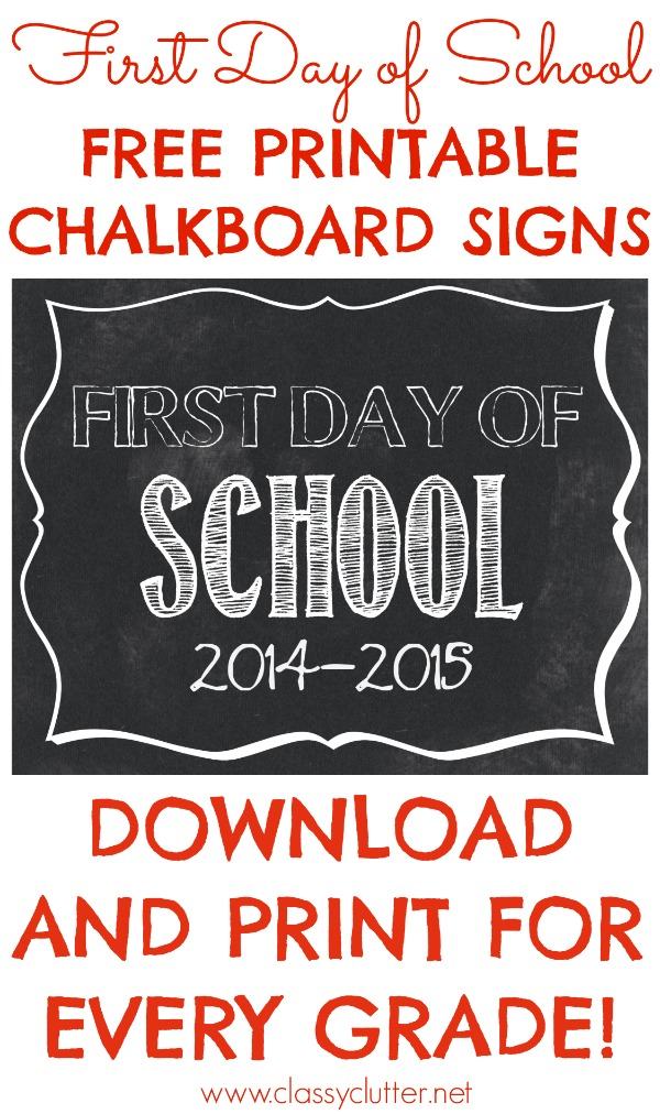 Shocking image inside first day of school sign free printable