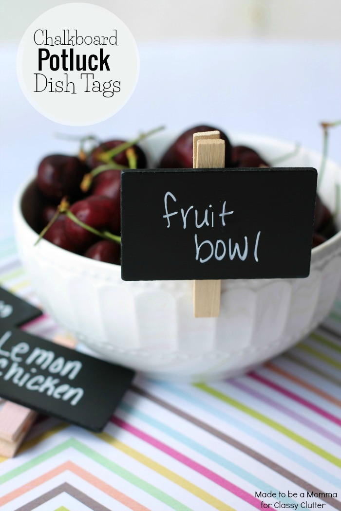 Adorable Potluck Dish Tags - www.classyclutter.net