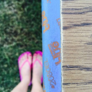 Warm days are for painting and my white legs need…
