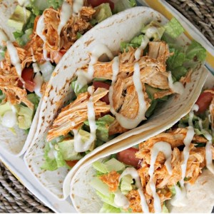 My mouth is seriously watering.. These buffalo chicken tacos are…