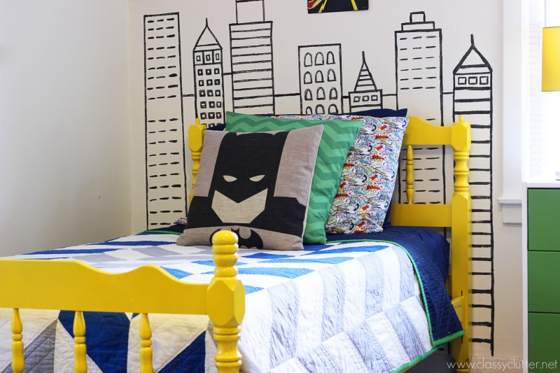 KB Cute Custom Quilt 3 Batman Bed